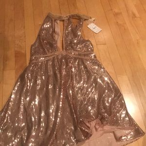 Free people gold sequin dress